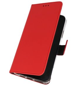 Wallet Cases Hoesje Samsung Galaxy A20s Rood