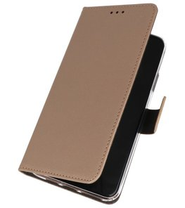 Wallet Cases Hoesje Samsung Galaxy A20s Goud