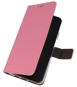 Wallet Cases Hoesje Samsung Galaxy A70s Roze