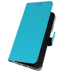 Wallet Cases Hoesje Samsung Galaxy Note 10 Blauw