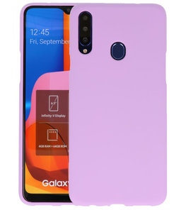Color Backcover voor Samsung Galaxy A20s Paars