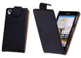 BestCases Navy Blue Kreukelleer Flipcase Hoesje voor Sony Xperia Z1