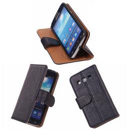 BestCases Navy Blue Luxe Leer Wallet Booktype Hoesje voor Samsung Galaxy Express 2