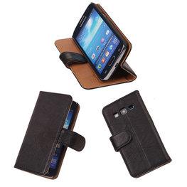BestCases Zwart Luxe Echt Lederen Booktype Hoesje voor Samsung Galaxy Express 2