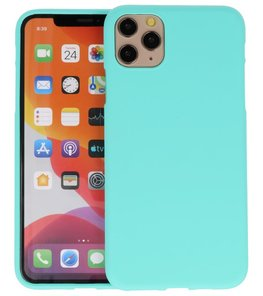 Color Backcover voor iPhone 11 Pro Max Turquoise