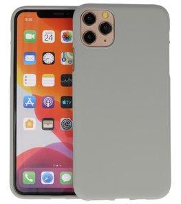 Color Backcover voor iPhone 11 Pro Max Grijs