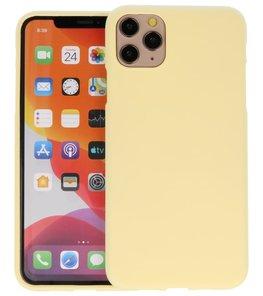 Color Backcover voor iPhone 11 Pro Max Geel