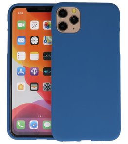 Color Backcover voor iPhone 11 Pro Max Navy