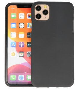 Color Backcover voor iPhone 11 Pro Zwart