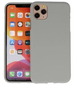 Color Backcover voor iPhone 11 Pro Grijs