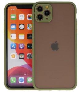 Kleurcombinatie Hard Case voor iPhone 11 Pro Max Groen