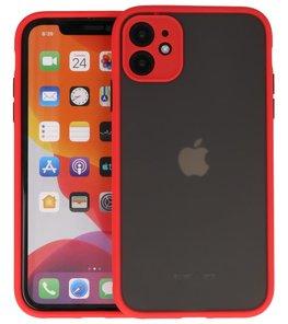 Kleurcombinatie Hard Case voor iPhone 11 Rood