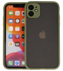 Kleurcombinatie Hard Case voor iPhone 11 Groen