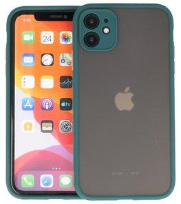 Kleurcombinatie Hard Case voor iPhone 11 Donker Groen