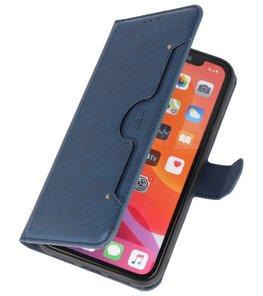 Luxe Portemonnee Hoesje voor iPhone 11 Pro Max Navy