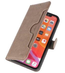 Luxe Portemonnee Hoesje voor iPhone 11 Pro Max Grijs