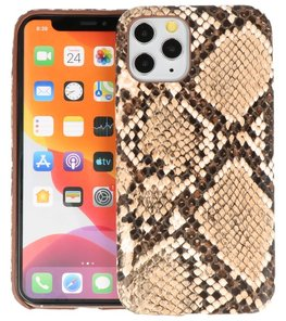 Slang Design Back Cover voor iPhone 11 Pro Beige