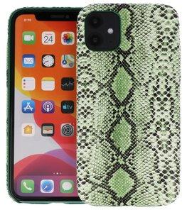 Slang Design Back Cover voor iPhone 11 Groen