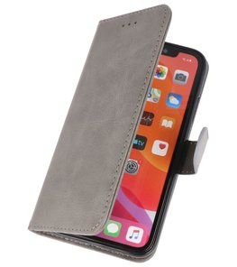 Bookstyle Wallet Cases Hoes voor iPhone 11 Pro Grijs