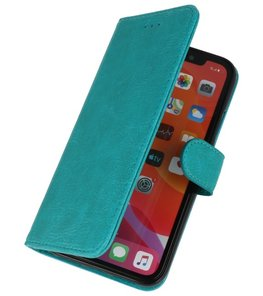 Bookstyle Wallet Cases Hoes voor iPhone 11 Pro Groen
