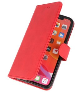 Bookstyle Wallet Cases Hoes voor iPhone 11 Pro Rood