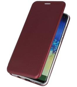 Slim Folio Case voor Huawei P30 Bordeaux Rood