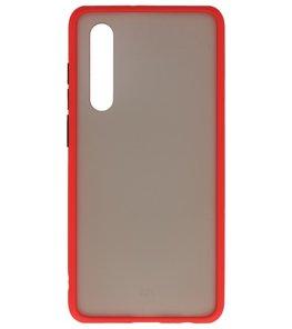 Kleurcombinatie Hard Case voor Huawei P30 Rood