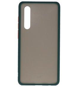 Kleurcombinatie Hard Case voor Huawei P30 Donker Groen