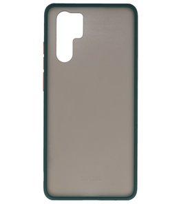 Kleurcombinatie Hard Case voor Huawei P30 Pro Donker Groen