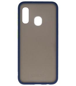 Kleurcombinatie Hard Case voor Samsung Galaxy A20e Blauw