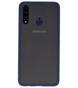 Kleurcombinatie Hard Case voor Samsung Galaxy A20s Blauw