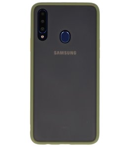 Kleurcombinatie Hard Case voor Samsung Galaxy A20s Groen