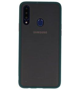 Kleurcombinatie Hard Case voor Samsung Galaxy A20s Donker Groen