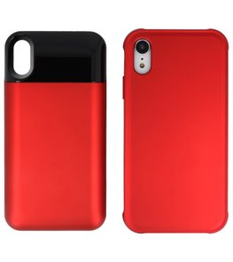 Battery Power Bank + Back Case voor iPhone XR Rood