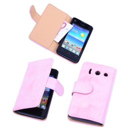 Bestcases Vintage Light Pink Book Cover Hoesje voor Huawei Ascend Y300