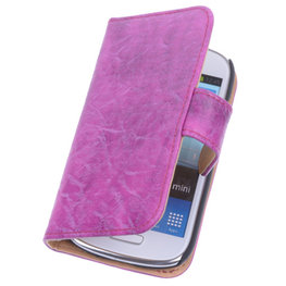 Bestcases Vintage Pink Book Cover Hoesje voor Samsung Galaxy S3 Mini i8190