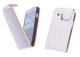 Bestcases Vintage Creme Flipcase Hoesje voor Samsung Galaxy S3 Mini i8190