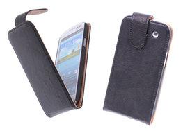 BestCases Luxe Kreukelleer Flipcase Hoesje voor Samsung Galaxy S3 Zwart