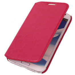 Bestcases Fuchsia Map Case Book Cover Hoesje voor Samsung Galaxy Note 2