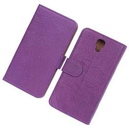 BestCases Lila Echt Leer Booktype Hoesje voor Samsung Galaxy Note 3 Neo