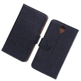 BestCases Zwart Echt Leer Booktype Hoesje voor Samsung Galaxy Note 3 Neo
