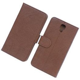 BestCases Bruin Echt Leer Booktype Hoesje voor Samsung Galaxy Note 3 Neo