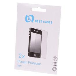Bestcases Hoesje voor Samsung Galaxy S3 Mini i8190 2x Display Beschermfolie