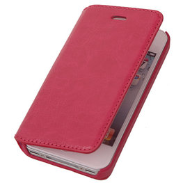 BestCases Fuchsia Map Case Book Cover Hoesje voor Apple iPhone 4 4s