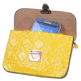 BestCases Geel Design Trendy Smartphone Wallet Kleine Handtas Schoudertas