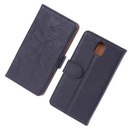 BestCases Navy Blue Echt Leer Booktype Hoesje voor Samsung Galaxy Note 3 N9000