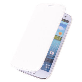 Bestcases Wit Map Case Book Cover Hoesje voor Samsung Galaxy Core Plus
