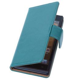 PU Leder Groen Hoesje voor Nokia Lumia 1520 Book/Wallet Case/Cover