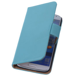 PU Leder Turquoise Hoesje voor Samsung Galaxy S3 Book/Wallet Case/Cover