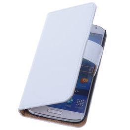 PU Leder Wit Hoesje voor Samsung Galaxy S3 Book/Wallet Case/Cover